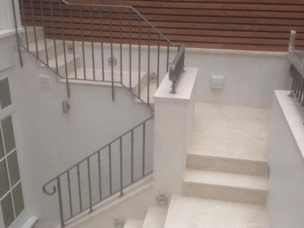 marble garden stairs