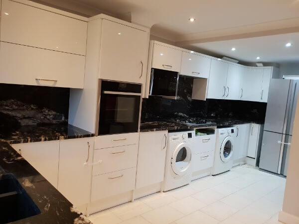 black granite worktops welling