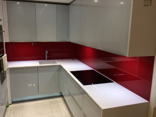 glass painted splashbacks